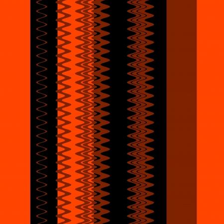 Chevron Orange Black Fashion Zigzag Stripes Art Design Stock Photo - 14112077