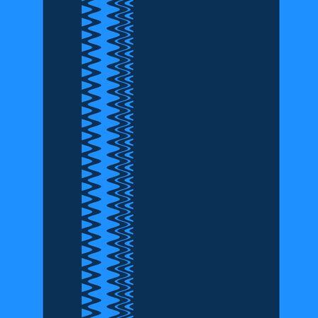 Chevron Blue Fashion Zigzag Stripes Art Design Stock Photo - 14112086