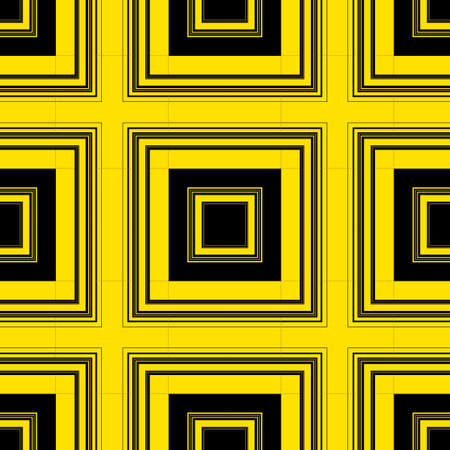 Yellow and Black Fashion Retro Stripes Art Design Abstract Background
