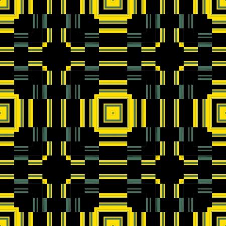 damasks: Black Yellow Seamless Pattern Retro Art Design 2