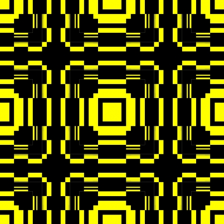 colorfuls: Black Yellow Seamless Pattern Retro Art Design Stock Photo