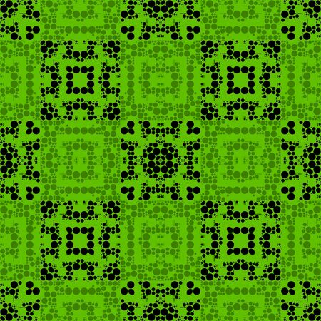 retros: Green Polka Dots Seamless Stripes Pattern Art Design