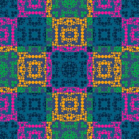 Colorful Polka Dots Seamless Stripes Pattern Art Design Stock Photo - 14112025