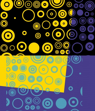 Colorful Retro Circles Abstract Art Background Stock Photo - 14176498