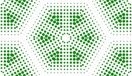 Green Polka Dots Abstract Art Background photo