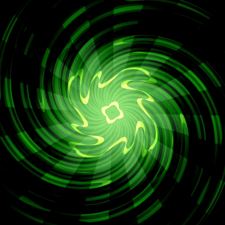 Green Rays Of Light Abstract Art Background photo