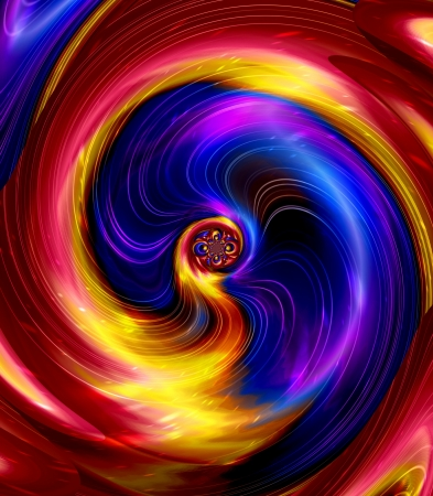 Abstract colorful spiral ray blurry background photo