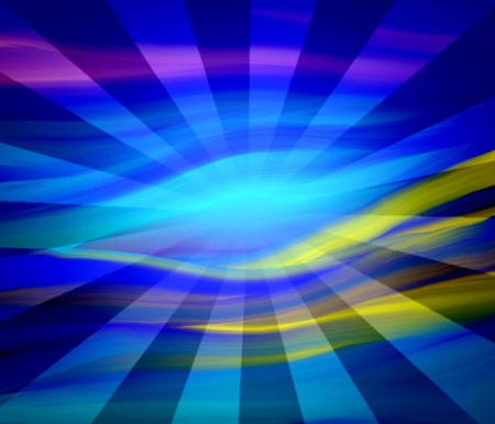 abstract background blue with ray sunlight photo