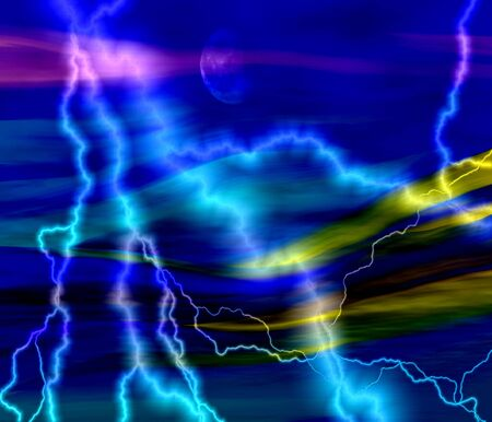 abstract background blue with lightning photo