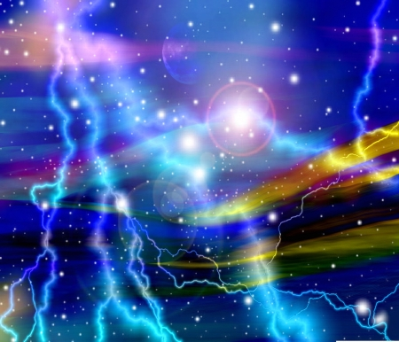abstract background blue galaxy Stock Photo - 14241605