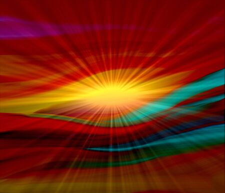abstract background red with ray sunlight photo
