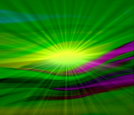 abstract background green with ray sunlight photo