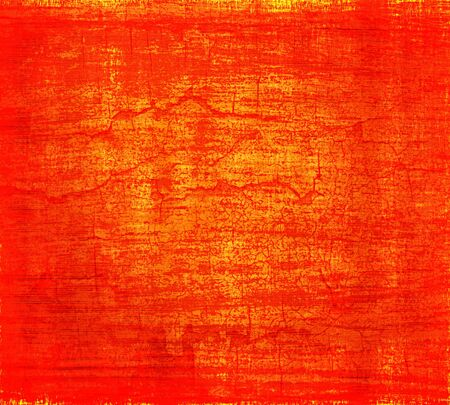 grunge orange red painted wall texture background photo