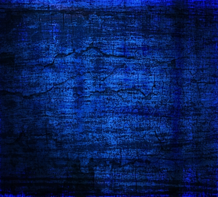 grunge dark blue painted wall texture background photo