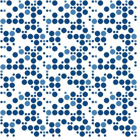 Retro Polka Dots Seamless Pattern Art Design photo
