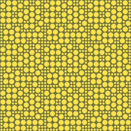 Vintage Yellow Polka Dots Seamless Pattern Art Design photo