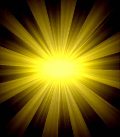 abstract yellow light over back background photo