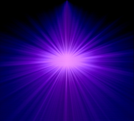 garish: Vertical Purple Light Burst With Stars Abstract Background