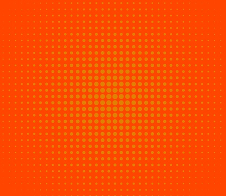 Orange lights over polka dot background photo