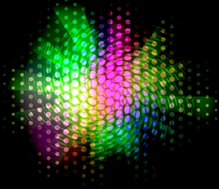 blurry lights: Bright abstract colorful lights over polka dot background