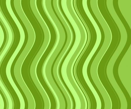 Vintage background of green stripes and waves  photo