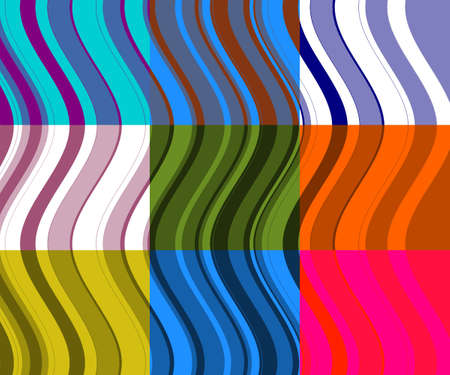 Retro background of colored stripes and waves  photo