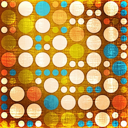 Retro Grunge Polka Dots Pattern  photo