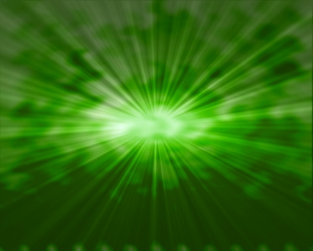 Green star burst abstract background Stock Photo - 14529268