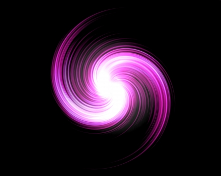 Pink Light Swirl Over Black Background photo