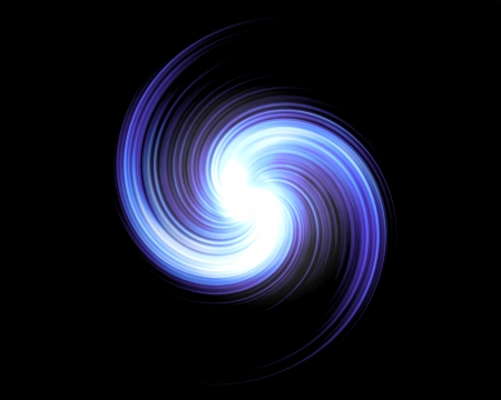Violet Light Swirl Over Black Background photo