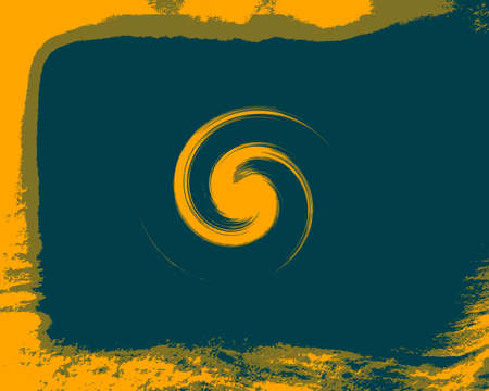 Vintage Yellow Swirl Abstract Background photo
