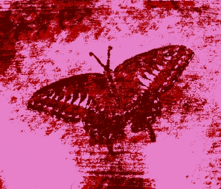 Red Butterfly Painting Art Monet Stock Photo - 14564102