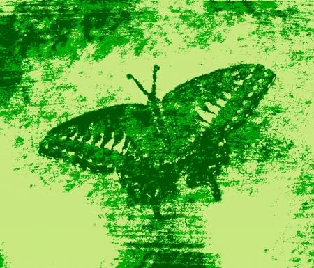monet: Green Butterfly Painting Art Monet