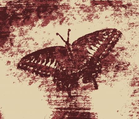 monet: Vintage Butterfly Painting Art Monet Stock Photo