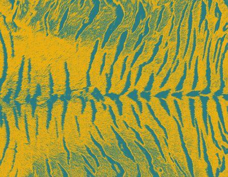 Art tiger fur textures seamless background for design photo