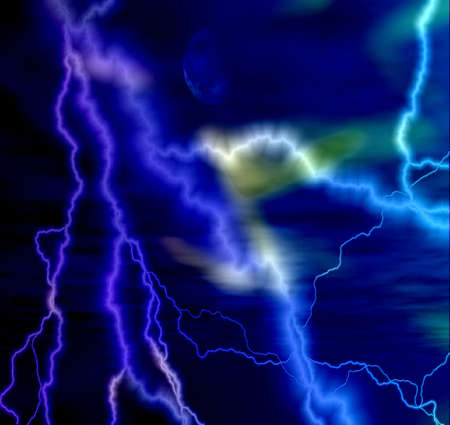 blue abstract lightning background photo