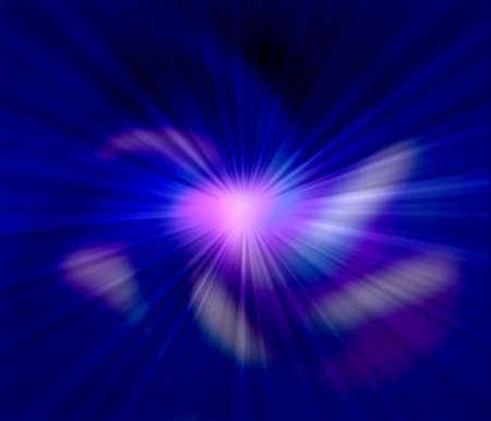 blue sun ray abstract light background photo