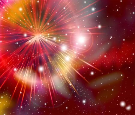 red galaxy abstract light background photo