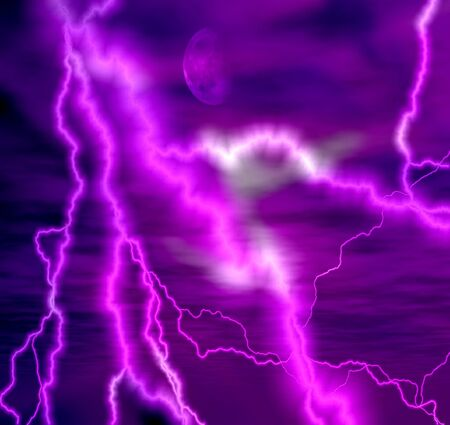 galaxy abstract lightning background photo