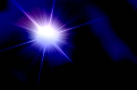 Blue star lights abstract over black background photo