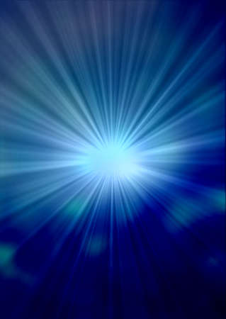 A Blue color design with a burst photo