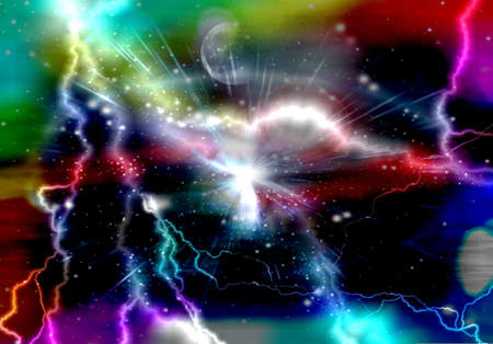 Colorful galaxy abstract lightning background photo