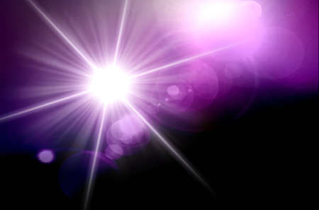 Abstraction star light with lens flare photo