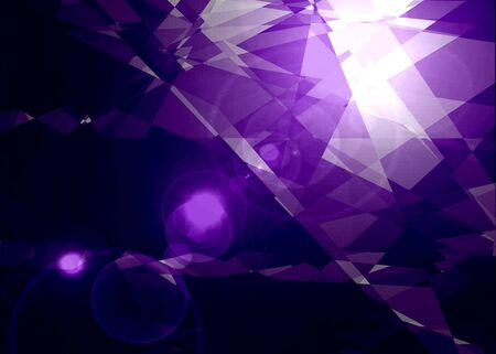 retro violet crystal abstract background for design photo