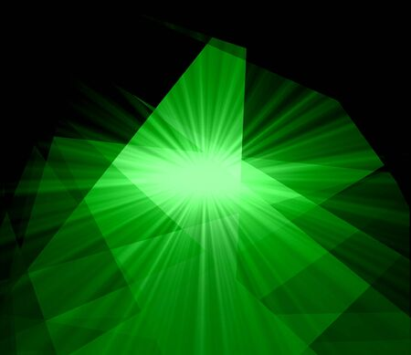Green Light Crystal Abstract Background photo