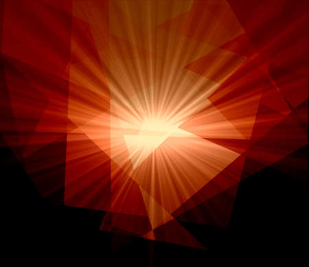 Red Light Crystal Abstract Background photo