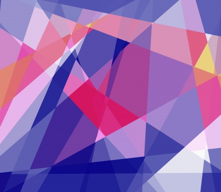picasso: Retro colorful cubism abstract background