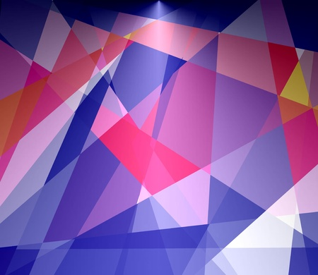 futurism: Retro colorful cubism abstract background