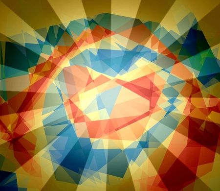 contortion: Retro colorful cubism abstract background