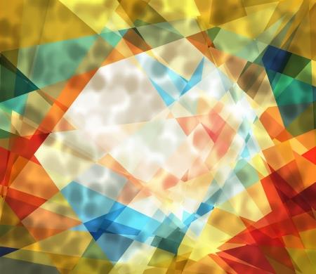 星系豐富多彩的立體派抽象背景